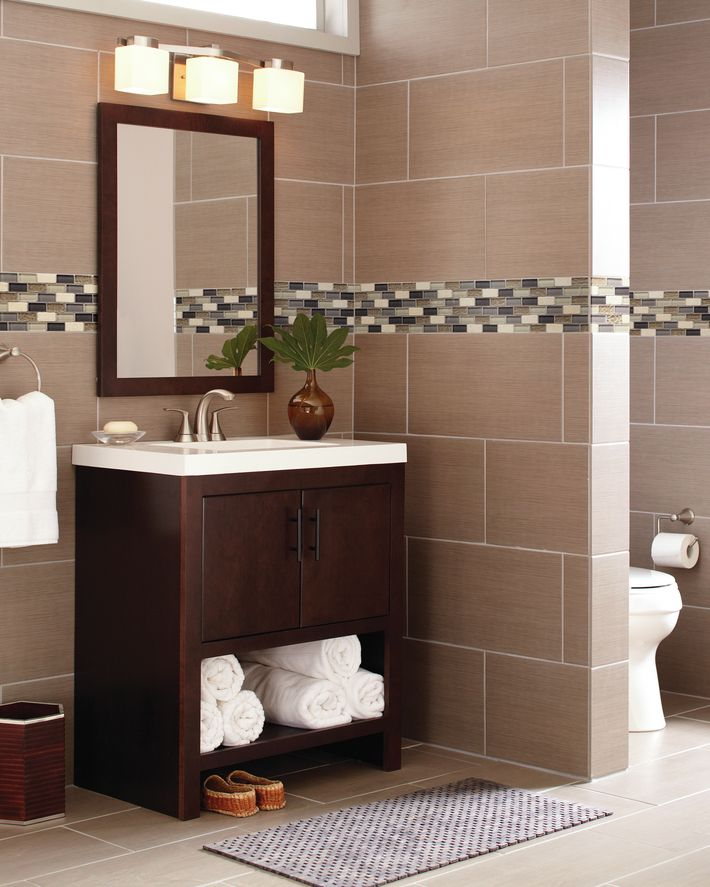 Modern oasis This modern style bathroom sets