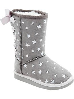 Sueded Lace-Up Boots for Baby,,, I wish Chanel wore a smaller size.. these are toooo cute!
