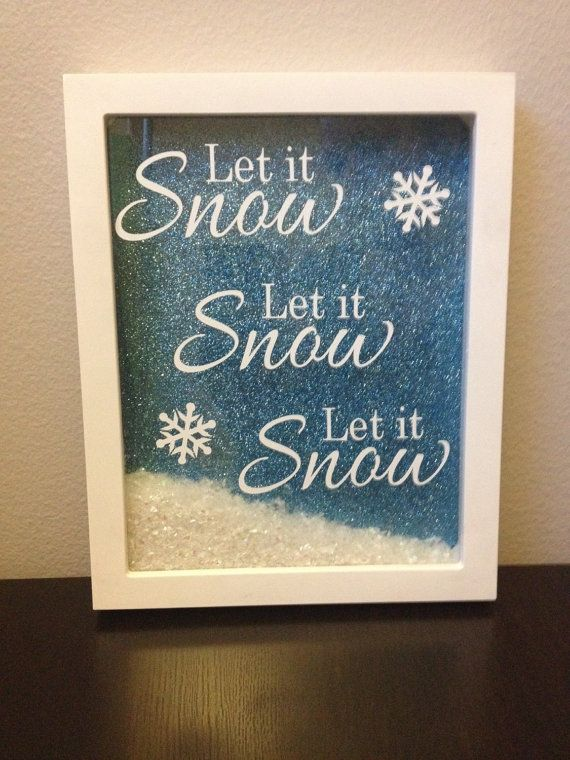 Let it snow christmas shadowbox decoration by JackiLynnCreations