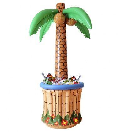 Palma Gonfiabile porta bibite: non solo una semplice decorazione, ma anche un'idea originale per tenere al fresco le bibite in occasione della tua divertente festa in spiaggia a tema Hawaii!
