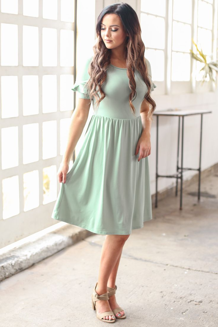 Best 25 bridesmaid dresses sage green ideas on pinterest sage 3 choose from solids or florals all perfect for spring summertimes ideal choice for modest bridesmaids too nessa modest dress or modest bridesmaid ombrellifo Image collections