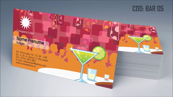 http://cartidevizitaieftine.com/ va prezinta modele Carti de vizita bar, pub, barman, restaurant, printate digital pe carton 300gr, 350gr pana la 400gr. in Bucuresti.