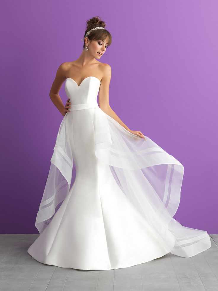Bridal Gown Available at Ella Park Bridal | Newburgh, IN | 812.853.1800 | Allure Romance - Style 3000T with detachable train