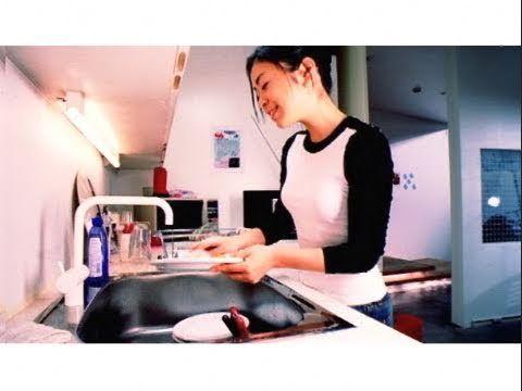 """宇多田ヒカル - 光 """"hikari"""" by Utada Hikaru I do feel like her in this video when I wash dishes :))"""