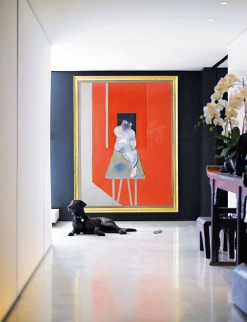 18 Super-sized Statements Made By Oversized Art In Exquisite Interiors home interior painting