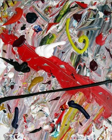 "Richard Allen Morris, ""Cross Country."" Acrylic on canvas, 1974."