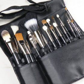MAC MAKEUP ARTIST COSMETICS PROFESSIONAL 22 PIECE BRUSH SET W/APRON SHOULDER STRAP, (sigma brushes, makeup brushes, makeup brush set, brush kit, sigma, brushes, make up brushes, brush set, set, sets)