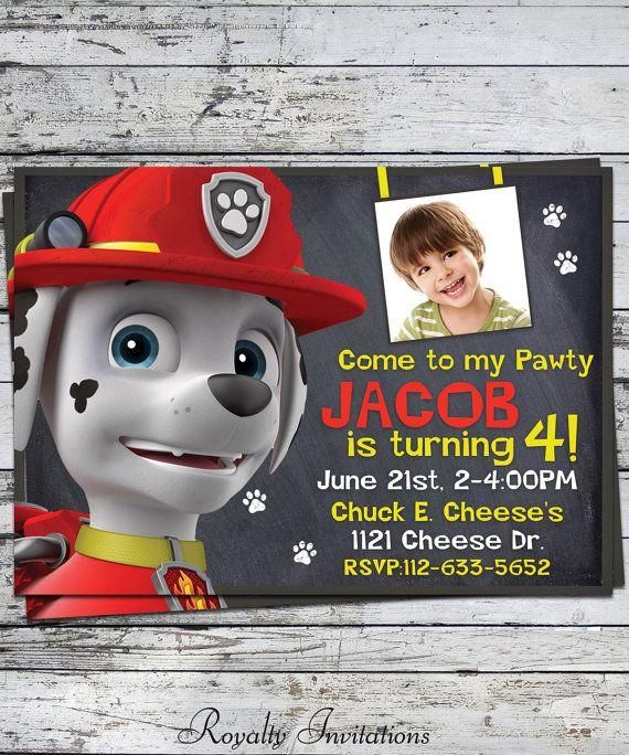 Paw Patrol Marshall Birthday Party