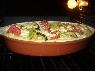 О вкусной и здоровой пище, - Полента запеченная с овощами и брынзой