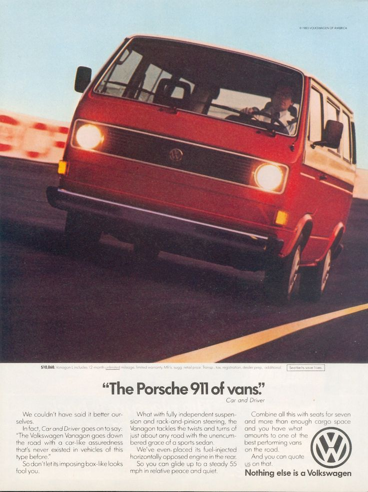 'The Porsche 911 of vans' - VW Vanagon