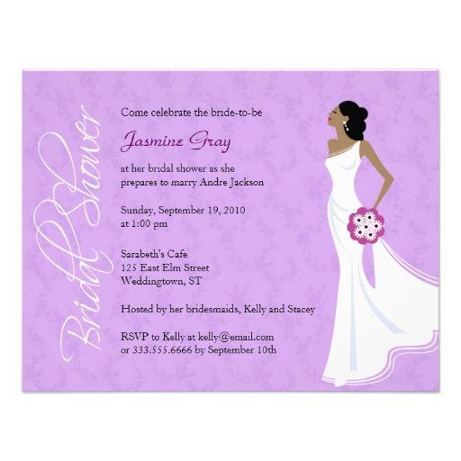Beautiful Modern Elegance Bridal Shower Invitation
