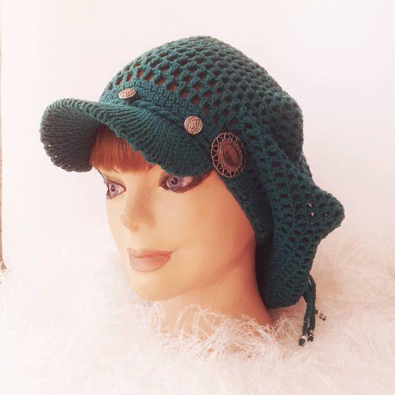 Slouchy Rasta Hat Rasta Hair Net Cap Slouchy cover cap Hat