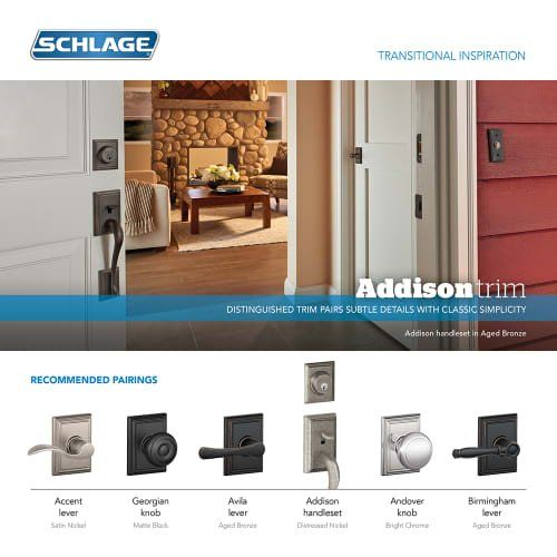 Schlage F170bweadd Bowery Single Dummy Door Knob From The