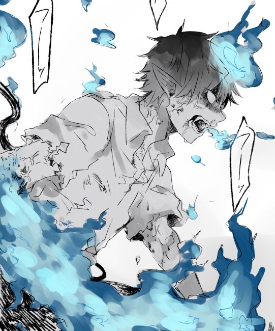 Whoa that's a bit scary | Rin Okumura | Ao no Exorcist Anyone watch this anime (Sorry for putting it in DBZ lovers