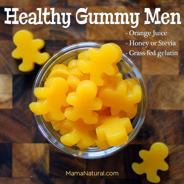 Healthy Gummy Men. These cute little guys are a favorite in our household. They're fast and easy to make, and super nutritious for your family. #Paleo #Gelatin #Kids