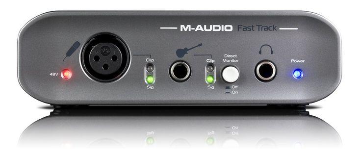 Amazon.com: M-Audio Fast Track USB 2 Computer Audio Interface: Musical Instruments