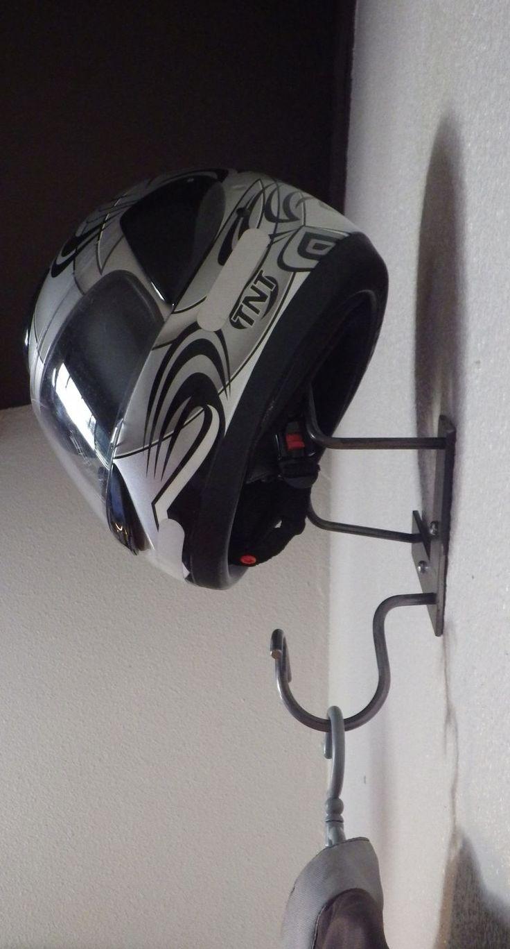 porte casque moto Design Acier