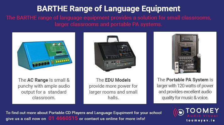 Barthe Range of Language Equipment for Schools
