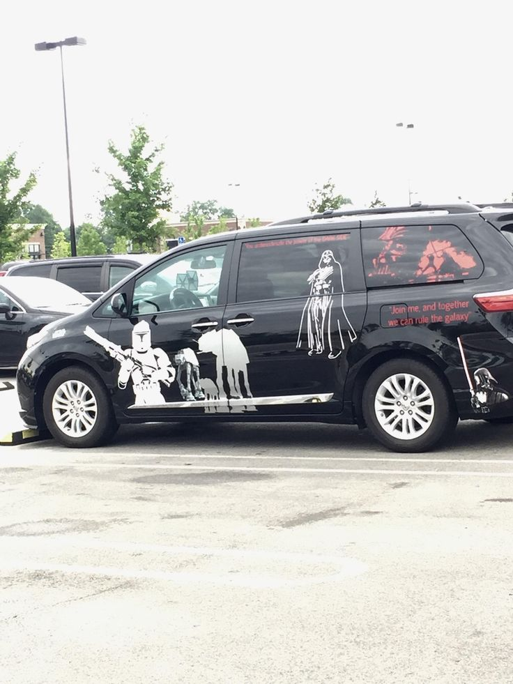 This is the van of a single father of two. Kudos to you sir and may the force be with you.