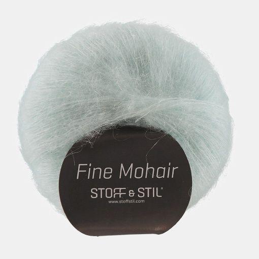Yarn fine mohair light aqua - Stoff & Stil