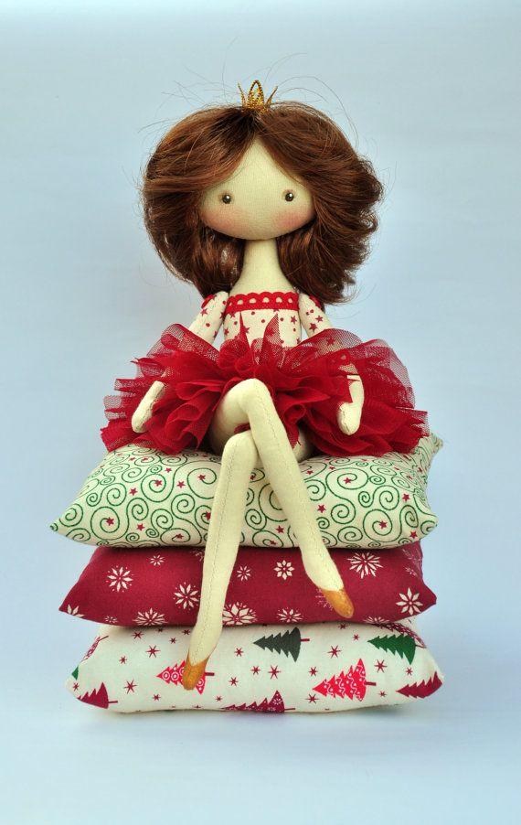 Princess on the Pea cloth doll handmade doll art от NilaDolss ♡
