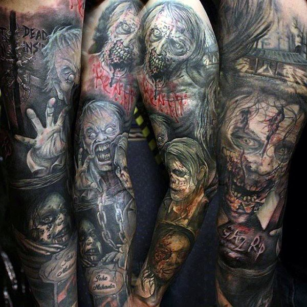 44 best cartoon zombie arm tattoo images on pinterest arm band tattoo arm tattoo and arm tattoos. Black Bedroom Furniture Sets. Home Design Ideas