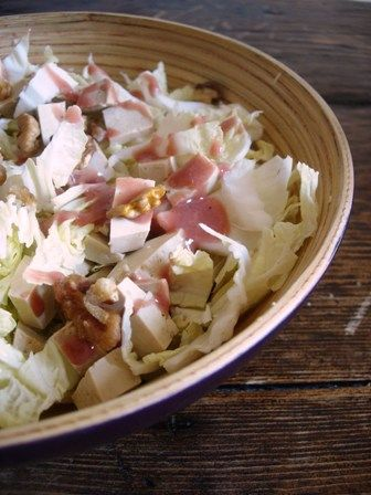 » Salade de chou chinois au tofu fumé et noix | Clea cuisine