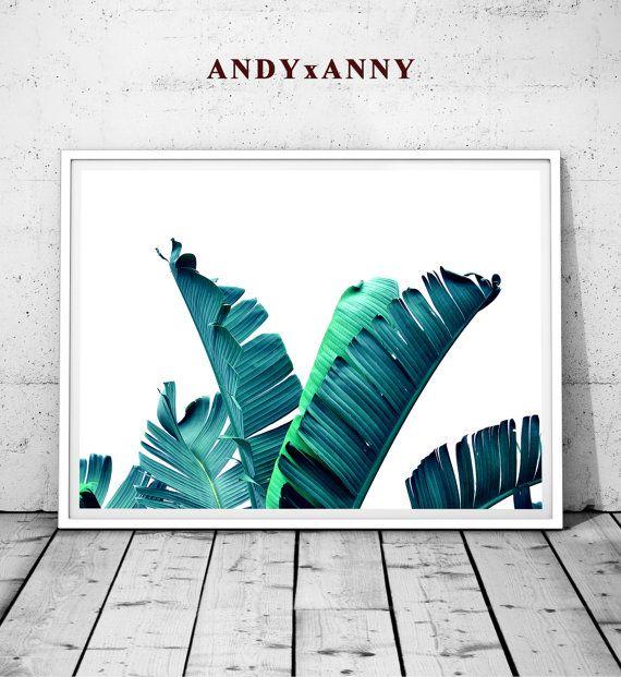 Palm Leaf Print Palm leaf Tropical Leaf Print Palm by ANDYxANNY