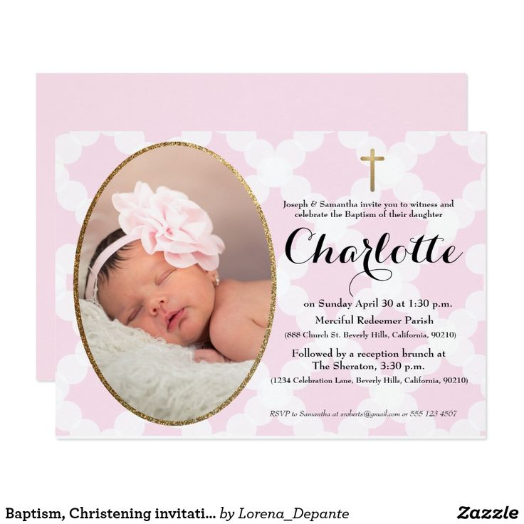The 25 best christening invitations ideas on pinterest baptism baptism christening invitation pink faux gold card stopboris Gallery