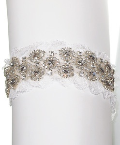 Cameron Garter | Kirsten Kuehn || handmade crystal bridal sashes & embellished