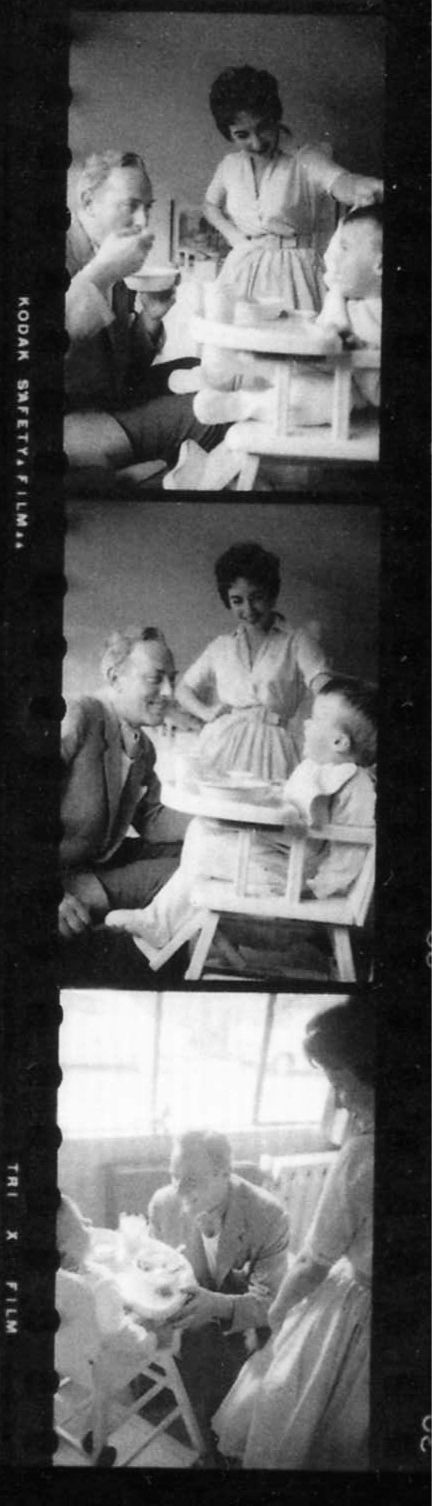 Elizabeth Taylor and Michael Wilding with their son Michael Wilding Jr.