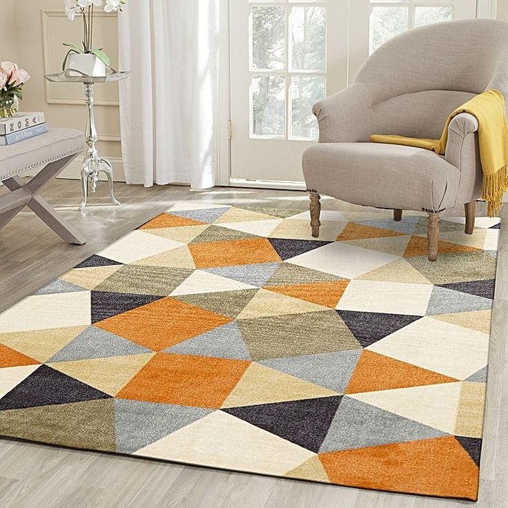 Accentuate the contemporary edge of your style with the smart geometry and handsome hues of the quality Char Modern Rug from Rug Culture.<br>