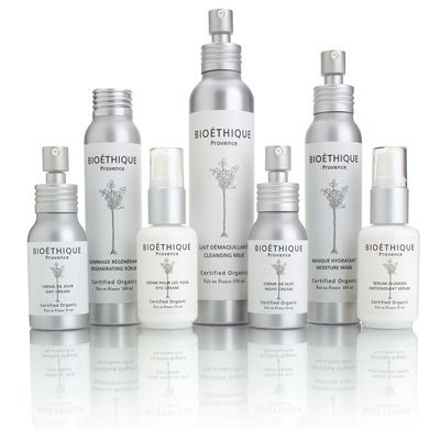 Bioéthique Certified #Organic skin care packaging range