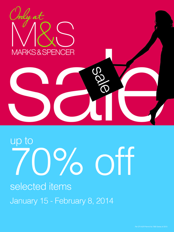 Further Reduction #SALE on Marks & Spencer! Go and do some #shopping, don't let this #promo from M&S pass you by! <3