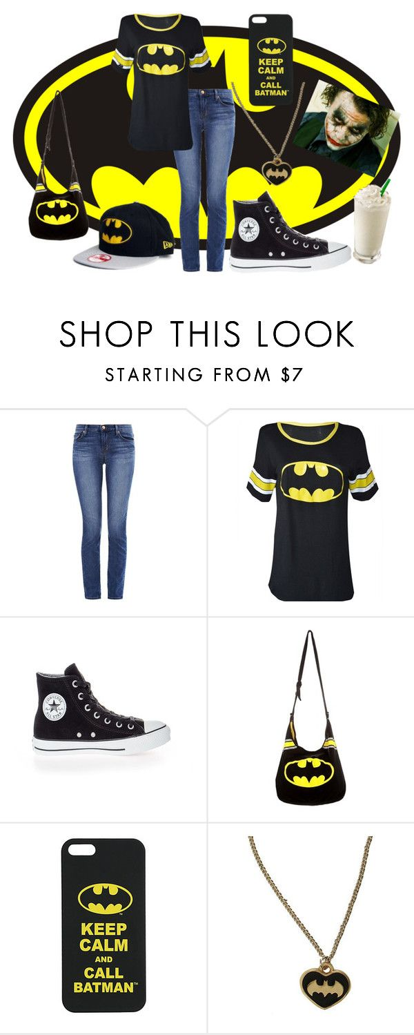 """""""Sister's creation-Batman Background"""" by katie-bradley ❤ liked on Polyvore featuring moda, J Brand e Converse"""