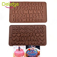 1 adet 3D Çift 26 Mektuplar Şekil Veya 0-9 Numers çikolata Kalıpları Mutlu Doğum Kelimeler Kek Kalıp Puding Tatlı Dekorasyon kalıp(China (Mainland))
