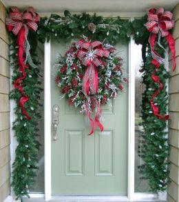 christmas front door.