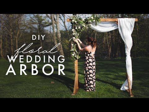 DIY WOODEN ARCH - PERFECT FOR WEDDINGS! - YouTube