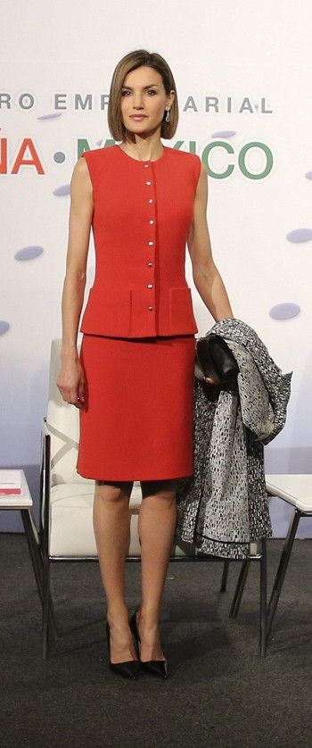 "Spain's Queen Letizia during the ""Business Meeting Espana-Mexico"" in Mexico City, Mexico, June 30, 2015. REUTERS/Edgard Garrido"