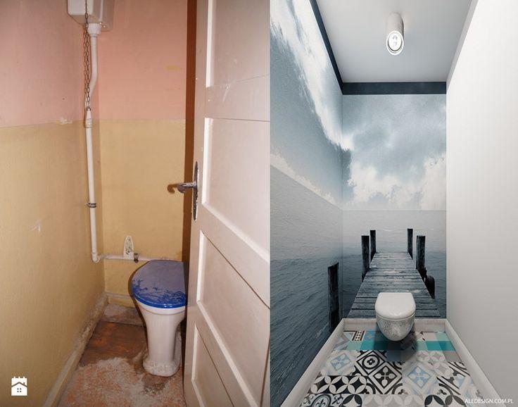 Toaleta - Mała łazienka w bloku bez okna, styl nowoczesny - zdjęcie od Ale design Grzegorz Grzywacz