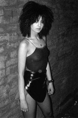 Wendy, a regular Blitz Kid at Strange's second club, Hell 1980.