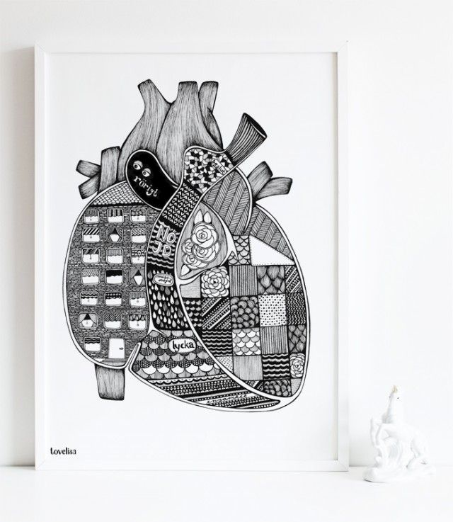 Anatomic heart - Tovelisa #nordicdesigncollective #tovelisa #heart #hjarta #love #valentine #valentinesday #happyvalentine #bemyvalentine #iheartu #iloveyou #anatomicheart #anatomic #poster