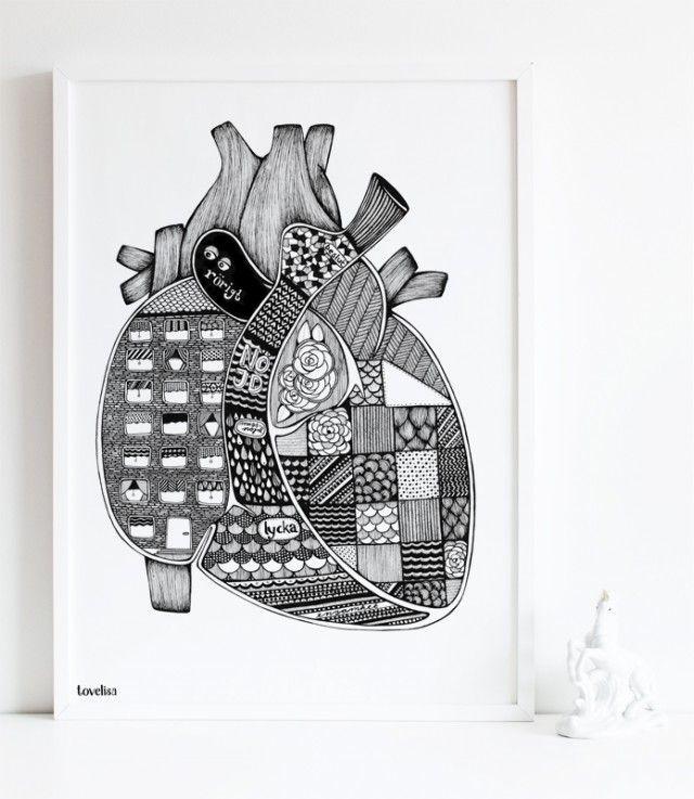 Anatomic heart - Tovelisa #nordicdesigncollective #tovelisa #heart #hjarta #love #valentine #valentinesday #happyvalentine #bemyvalentine #iheartu #iloveyou #anatomicheart #anatomic #poster