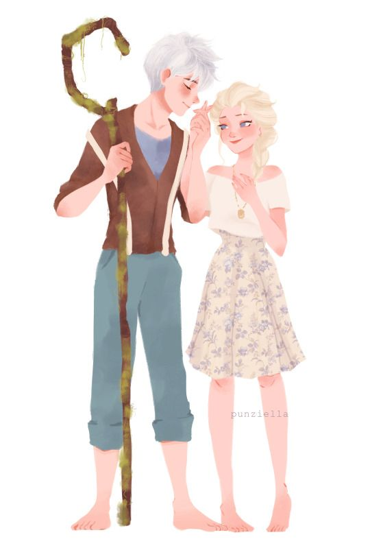 """cobaltpanther: """"Awesome new Jelsa art, thanks to @punziella and my obsession with springtime, floral patterns, moss, and bohemian fashions. Thanks again!! You ROCK! Keep doing the art :D """""""