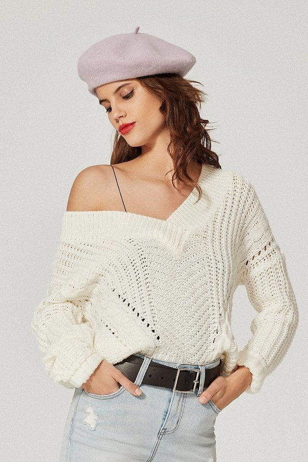 Urban Outfitters Uo Cable Knit V Neck Sweater Fashion Style