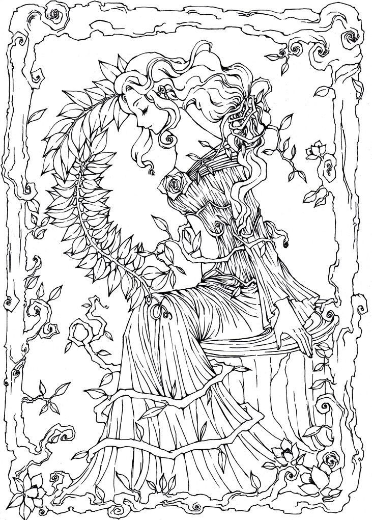 1242 Best Images About Fantasy Coloring Pages On Pinterest