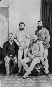 Group of men in Charters Towers, possibly graziers, ca. 1880s