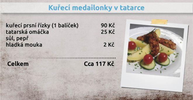 Recepty Ládi Hrušky - Kuřecí medailonky v tatarce