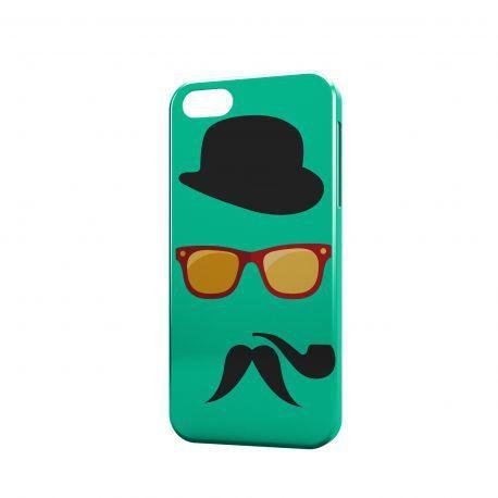 cover-hipster con occhiali pipa mustache