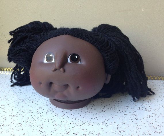 80s Cabbage Patch kid doll head vintage eighties by SpaceModyssey